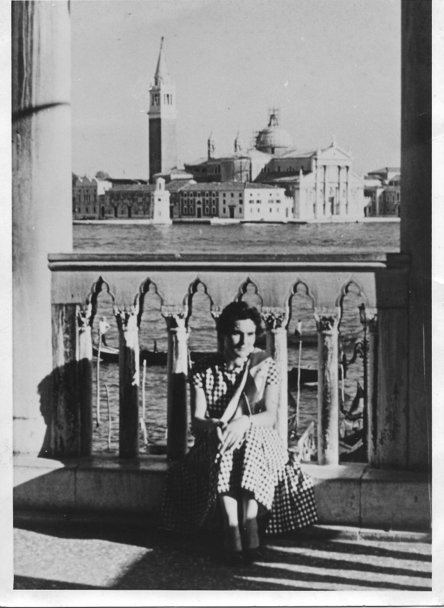 A Venezia nel 1955.